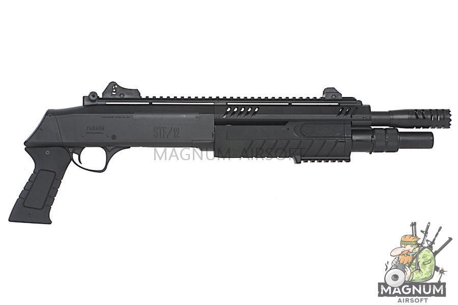 BO Manufacture FABARM Licensed STF12 11 inch Short Spring Shotgun - Black