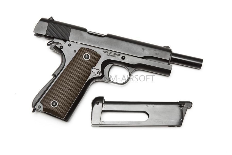 M1911A1 CO2 3 1 900x600 - Пистолет KJW COLT M1911A1 GBB, СО2 - 1911.CO2 Black
