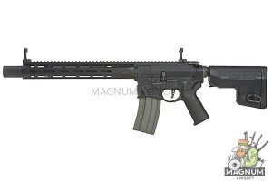 EMG Sharps Bros 'Warthog' Licensed Full Metal Advanced AEG Rifle - 15 inch Carbine Black (by ARES)