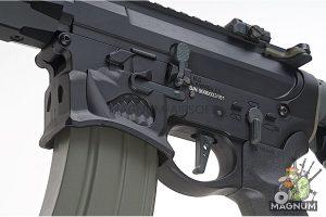 EMG Sharps Bros 'Warthog' Licensed Full Metal Advanced AEG Rifle - 10 inch SBR Black (by ARES)