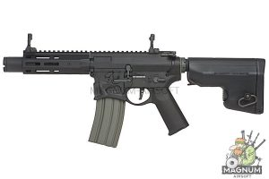 EMG Sharps Bros 'Warthog' Licensed Full Metal Advanced AEG Rifle - 7 inch SBR Black (by ARES)
