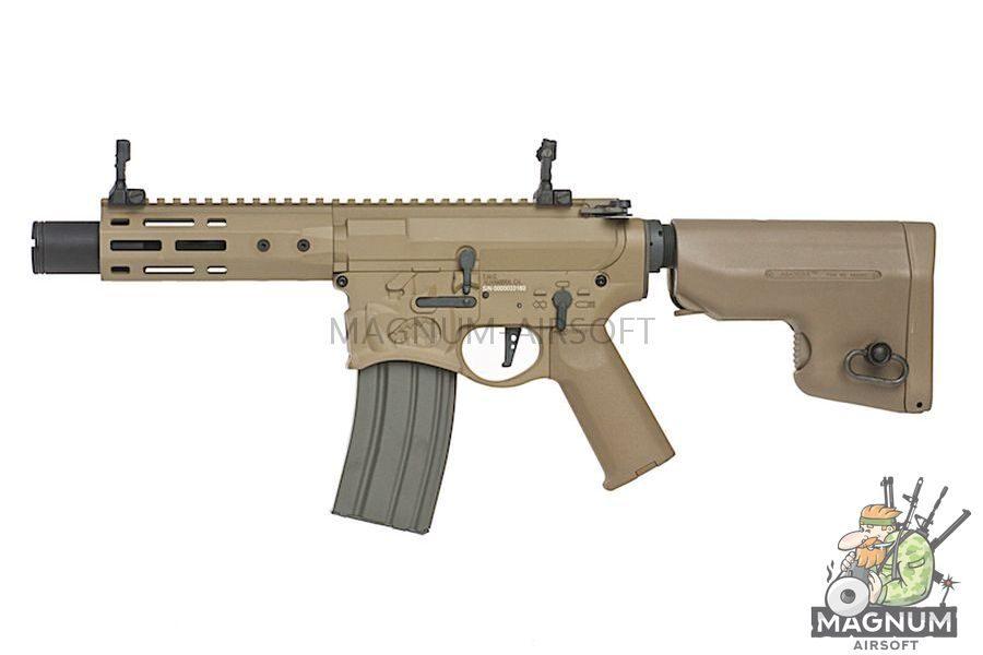 EMG Sharps Bros 'Warthog' Licensed Full Metal Advanced AEG Rifle - 7 inch SBR DE (by ARES)