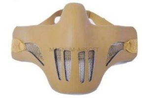 МАСКА на нижнюю часть лица стальная сетка с пластиком сверху AS-MS0085B