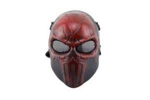 МАСКА с сетчатыми очками PUNISHER Red AS-MS0059R