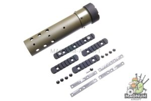 Madbull PRI licensed GIII Round 9 inch Rail w/ Extra Adjustable Rail Sections - OD (Mat. Carbon Fiber)