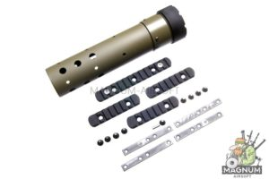 Madbull PRI licensed GIII Round 9 inch Rail w/ Extra Adjustable Rail Sections - OD (Mat. Polymer)