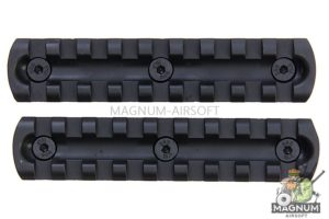 ARES 4 inch Metal Key Rail System for M-Lok System (2pcs / Pack)