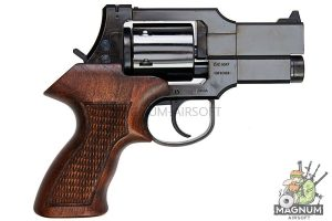 Marushin Mateba Revolver 6mm X-Cartridge Series 3 inch Wood Deep Black