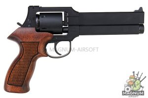 Marushin Mateba Revolver 6mm X-Cartridge Series Matt Black Wood Grip Version