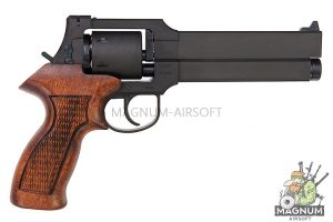 Marushin Mateba Revolver 6mm X-Cartridge Series Black HW Wood Grip Version