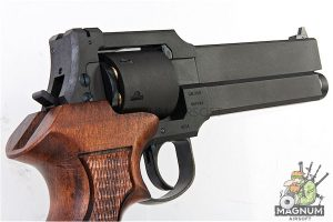 Marushin Mateba Revolver 6mm X-Cartridge Series Black HW Wood Grip Version