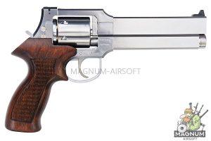 Marushin Mateba Revolver 6mm X-Cartridge Series Silver Wood Grip Version