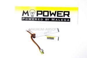 Аккумулятор Mpower 7,4 Li-Po 15C 1000 Mah  короткий двойной