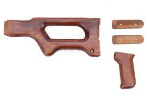НАБОР ПРИКЛАД, РУКОЯТЬ, НАКЛАДКИ на ручку переноски ДЕРЕВЯННЫЕ A&K PKM Real Wood Kit