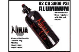 Ninja 62/3k aluminum air tank 1.1 liter 3.000 psi