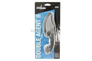 Нож Cold Steel Double Agent II с фиксированным клинком  AUS8A, пластиковые ножны CS_39FN