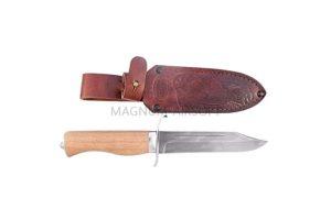 Нож Златоуст Н19, ст.У10А-7ХНМ, никель, орех