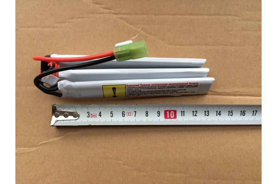 Аккумулятор Mpower 11,1 Li-Po 1100 короткий х3