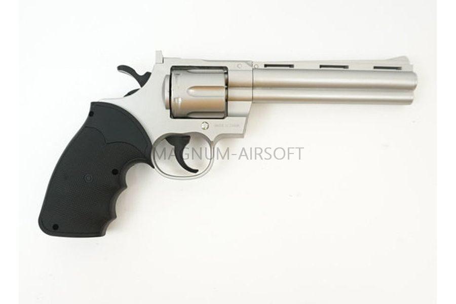 ПИСТОЛЕТ ПНЕВМ. Colt Python Silver (Galaxy) G.36S SPRING