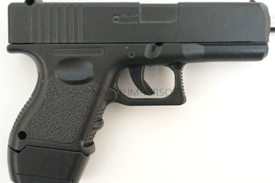 ПИСТОЛЕТ ПНЕВМ. Glock17 MINI  (Galaxy) G.16 SPRING