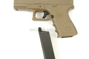 ПИСТОЛЕТ ПНЕВМ. Glock17 TAN  (Galaxy) G.15D SPRING
