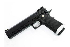 """Пистолет KJW COLT M1911 Hi-Capa 6"""" GBB, СО2, черный, металл, модель - KP-06.CO2"""