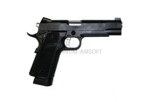 ПИСТОЛЕТ ПНЕВМ. KJW COLT M1911 Hi-Capa GBB, GAS, черный, металл, модель - KP-05 GAS