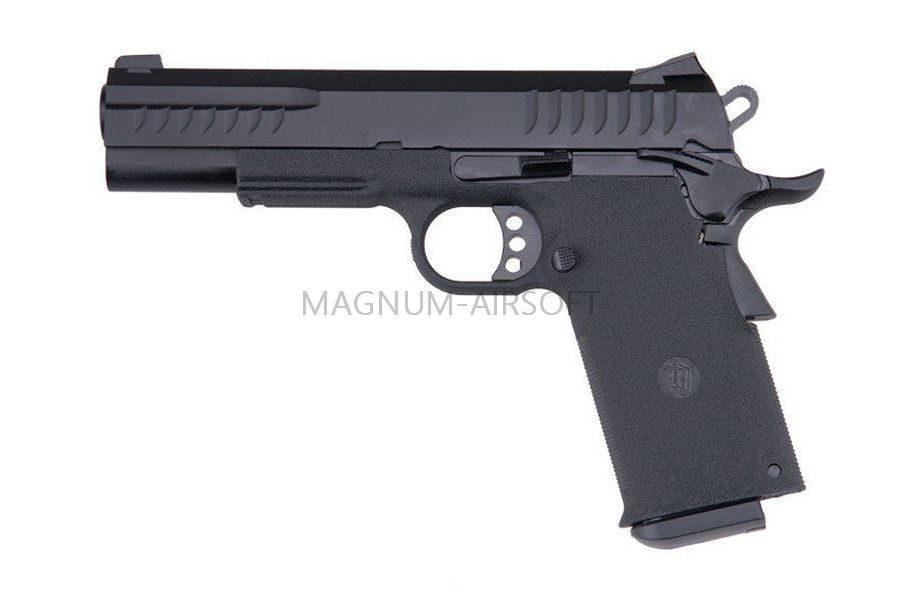 ПИСТОЛЕТ ПНЕВМ. KJW COLT M1911 Kimber GBB, СО2, черный, металл, модель - KP-08 GAS