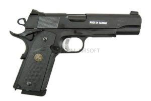 Пистолет KJW COLT M1911 M.E.U. GBB, GAS, черный, металл, модель - KP-07.GAS