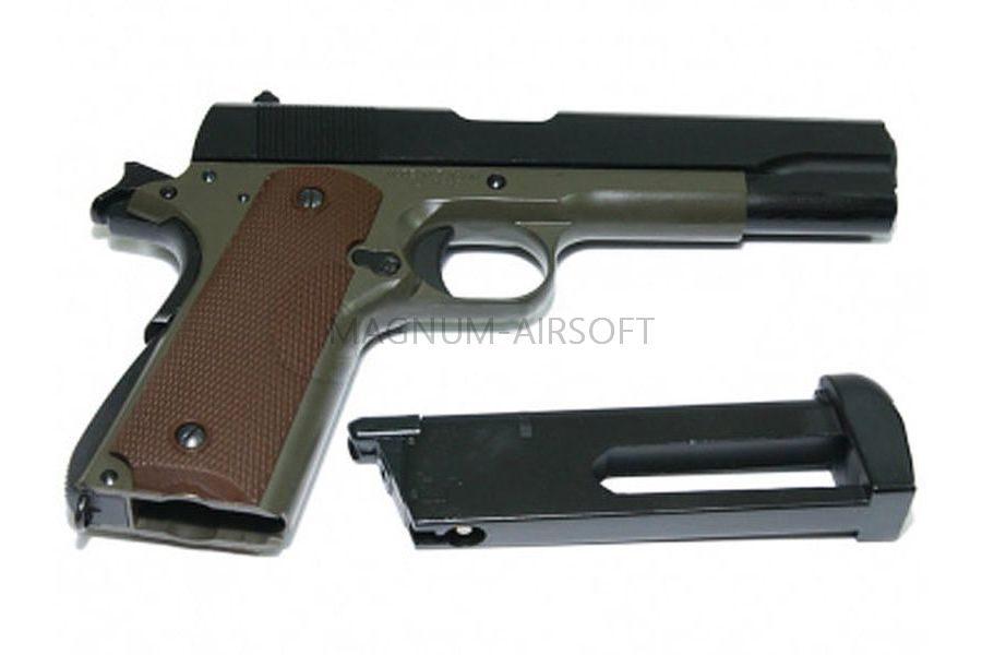 Пистолет KJW COLT M1911A1 GBB, металл, модель - 1911.GAS ,GP112