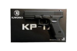 Пистолет KJW GLOCK G17 GBB GAS, мет. слайд, модель - KP-17-MS-BK