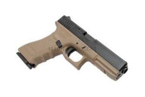 Пистолет KJW GLOCK G18 GBB CO2, авт., удлин. ствол с резьбой под глушитель, мет. слайд, модель - KP-18TBC-MS.CO2-TAN