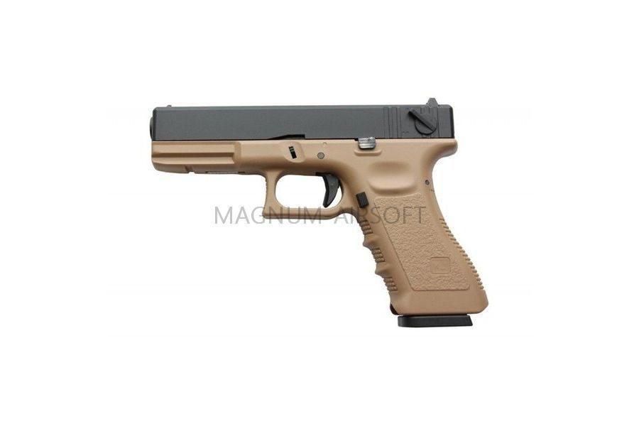 PISTOLET PNEVM. KJW GLOCK G18 GBB GAS avt. met. slayd model KP 18 TAN 3 1 900x600 - Пистолет KJW GLOCK G18 GBB GAS - KP-18-MS-TAN