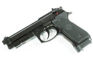 ПИСТОЛЕТ ПНЕВМ. KJW M9 A1 GBB, GAS, черный, металл, рельса, модель - M9A1 GAS Black