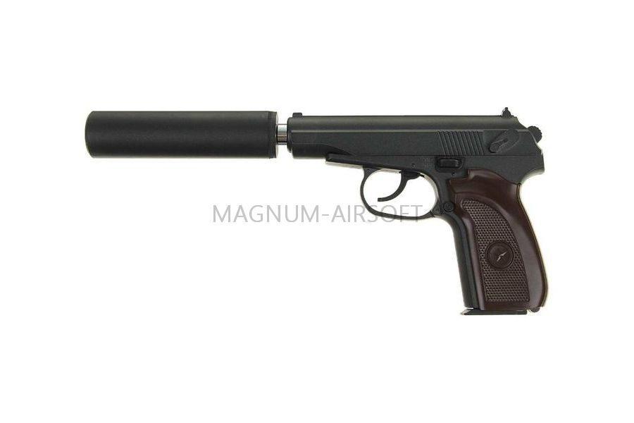 PISTOLET PNEVM. Makarov c glushitelem Galaxy G.29A SPRING 7 900x600 - Пистолет Galaxy ПМ Макаров c глушителем G.29A SPRING