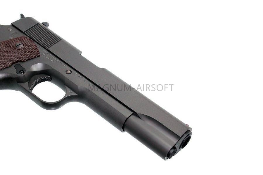 ПИСТОЛЕТ ПНЕВМ. TOKYO MARUI  COLT M1911A1 GOVERMENT MODEL GBB CUSTOM, черный, модель - BBGB20