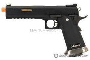 """ПИСТОЛЕТ WE COLT M1911 HI-CAPA 6"""",  Black / Gold, с возм. исользовать СО2  WE-H018WETA2-BKGD"""