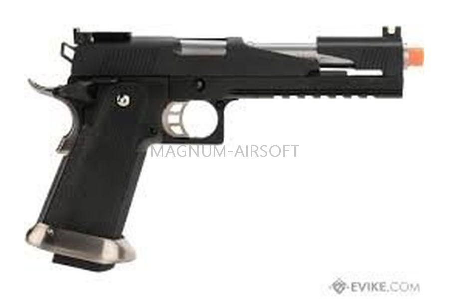 """ПИСТОЛЕТ WE COLT M1911 HI-CAPA 6"""" Dragon,  Black / Silver, с возм.использовать СО2  WE-H018WETCA-BK"""