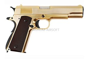 Пистолет WE COLT M1911А1, металл, золоченый, WE-E007