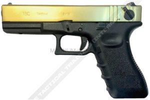 ПИСТОЛЕТ WE GLOCK-18 gen3, авт, металл слайд, Titanium Version WE-G002-TG-G18A