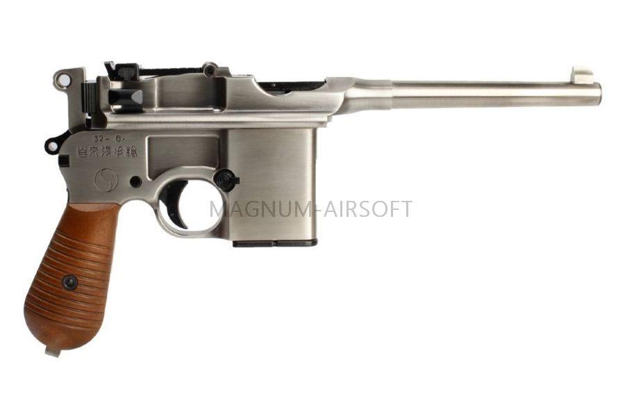 Пистолет WE Mauser 712, металл слайд, кобура приклад (пластик под дерево), WE-712-SV