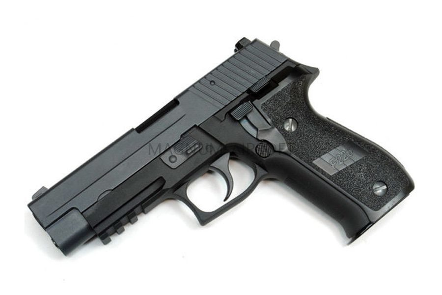 Пистолет WE SIG SAUER P-226 MK25, металл, рельса, WE-F003-BK / GP431(BK)