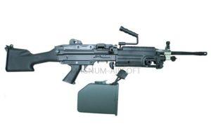 ПУЛЕМЕТ M249, A&K, металл, пластик,  электрокороб - M249(MK2)