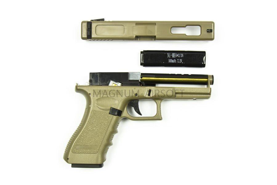 Пистолет Cyma Glock 18C AEP TAN (CM030TN)