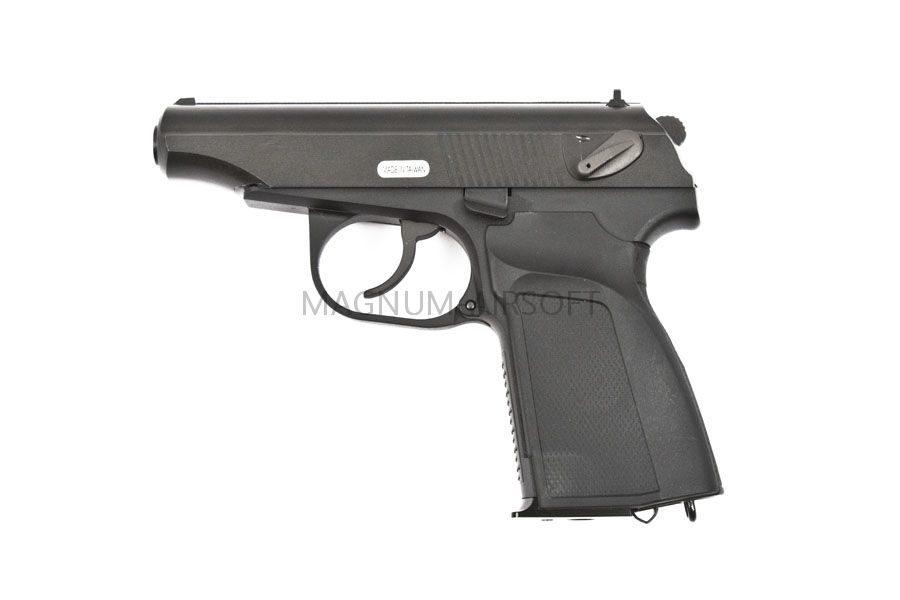 Пистолет WE ПМ с глушителем BK GGBB (GP118)
