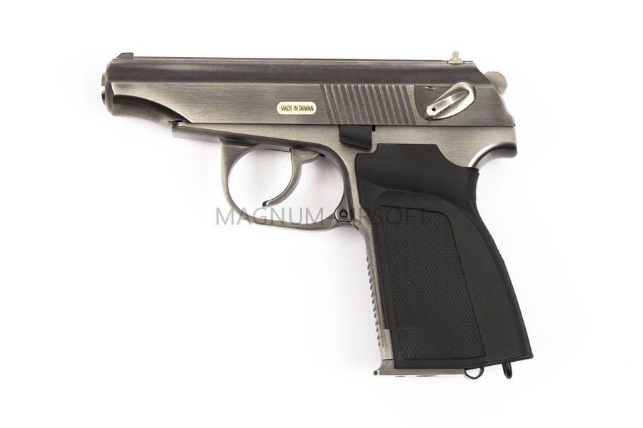 Пистолет WE ПМ с глушителем CH GGBB (GP118S)