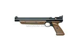 Пистолет пневматический Crosman 1377 С (пластиковый. коричневый, накачка), кал.4,5 мм
