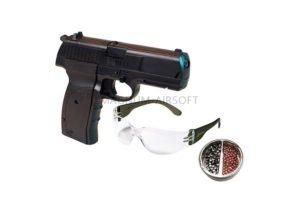 Пневматический пистолет Crosman 1088 BG Kit (пули+очки)  к.4,5