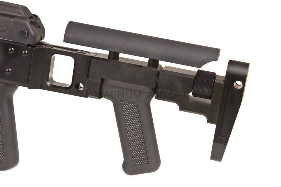 Страйкбольный пулемет (Raptor) ПКП с прикладом ПТ-2 (PKP with PT-2 stock AEG)