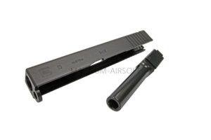RA New CNC Stainless slide & CNC Steel Outer barrel for KJ G19 / G23 (BK)